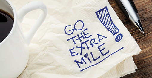 Go the extra mile on a napkin