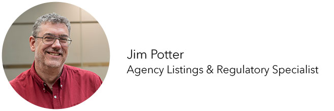 FLEXcon Agency Listings & Regulatory Specialist Jim Potter headshot