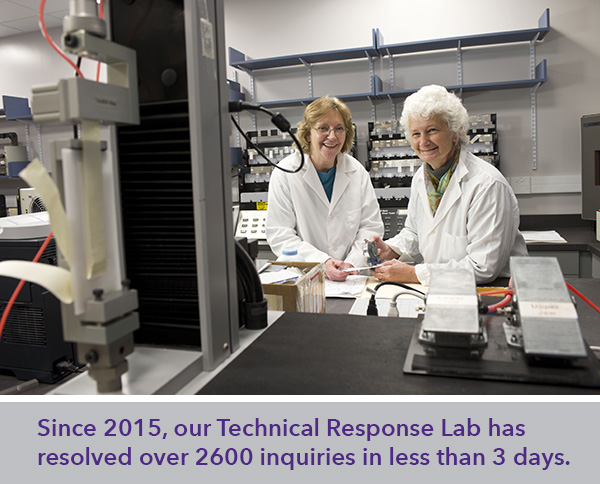Lab technicians working in Technical Response Lab